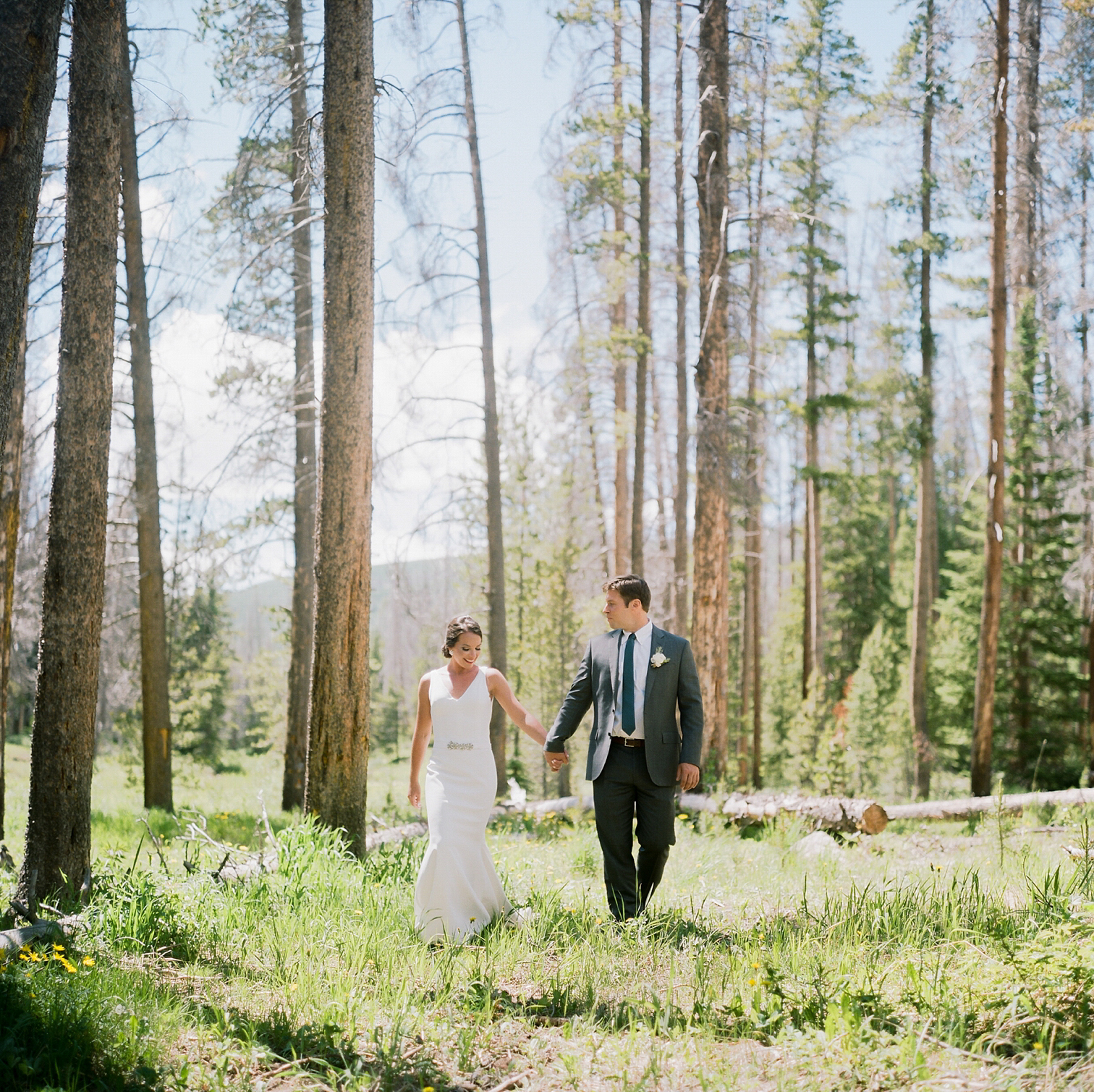 Colorado Destination First Look In Wood Vail Wedding Photographer Film