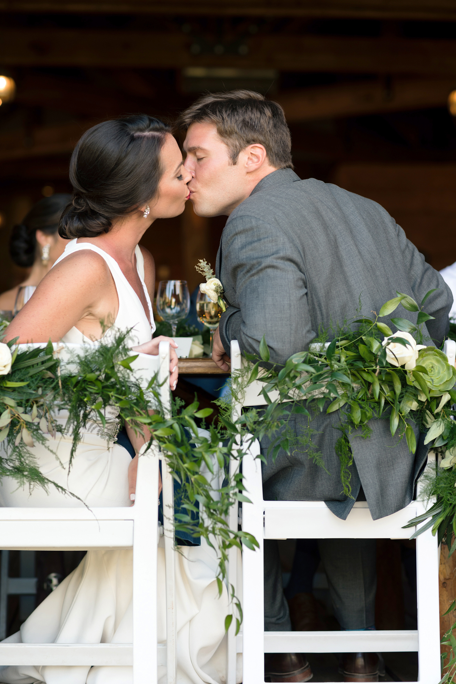 Piney River Ranch Wedding, Sweet Kisses