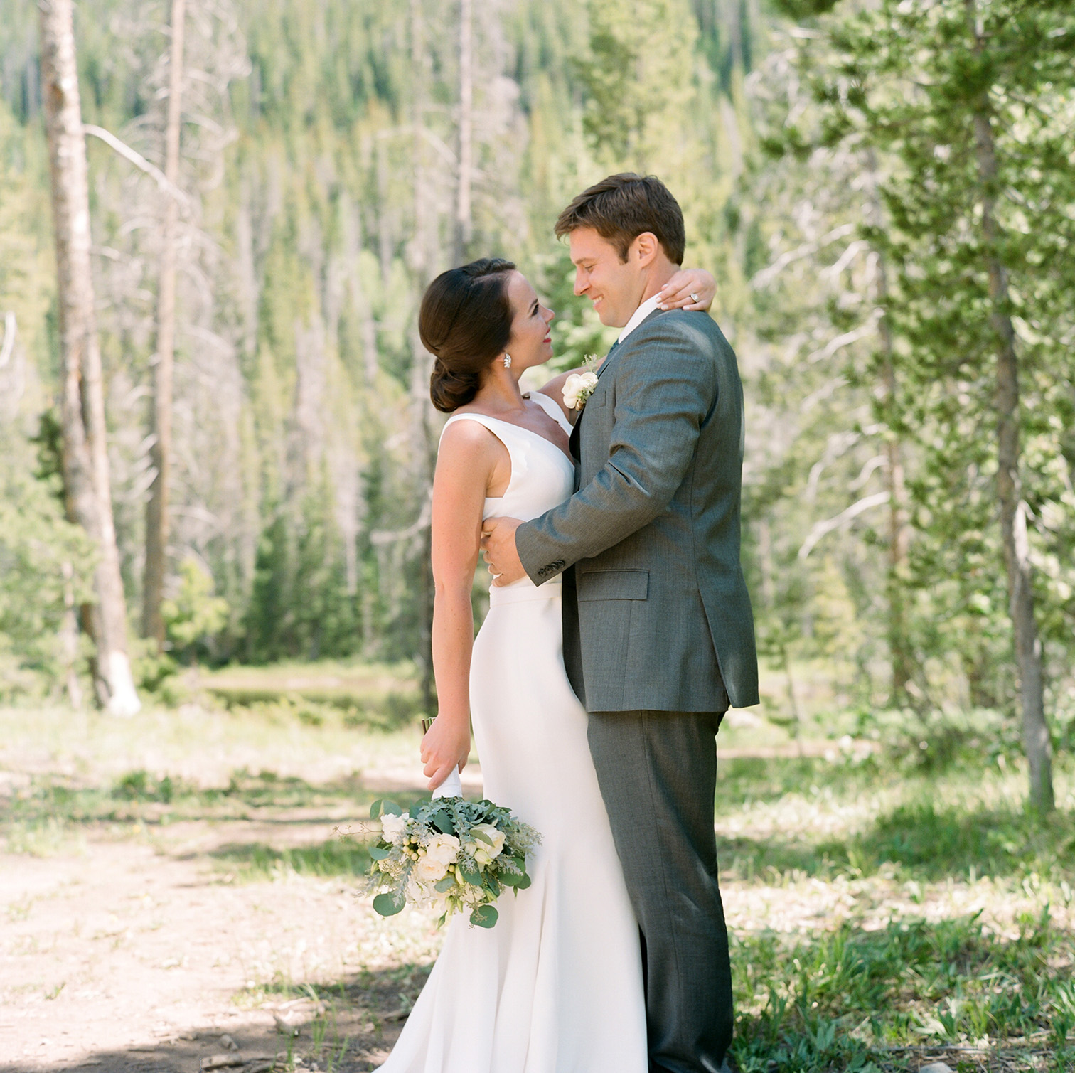Piney River Ranch Wedding, Desintation Bride and Groom