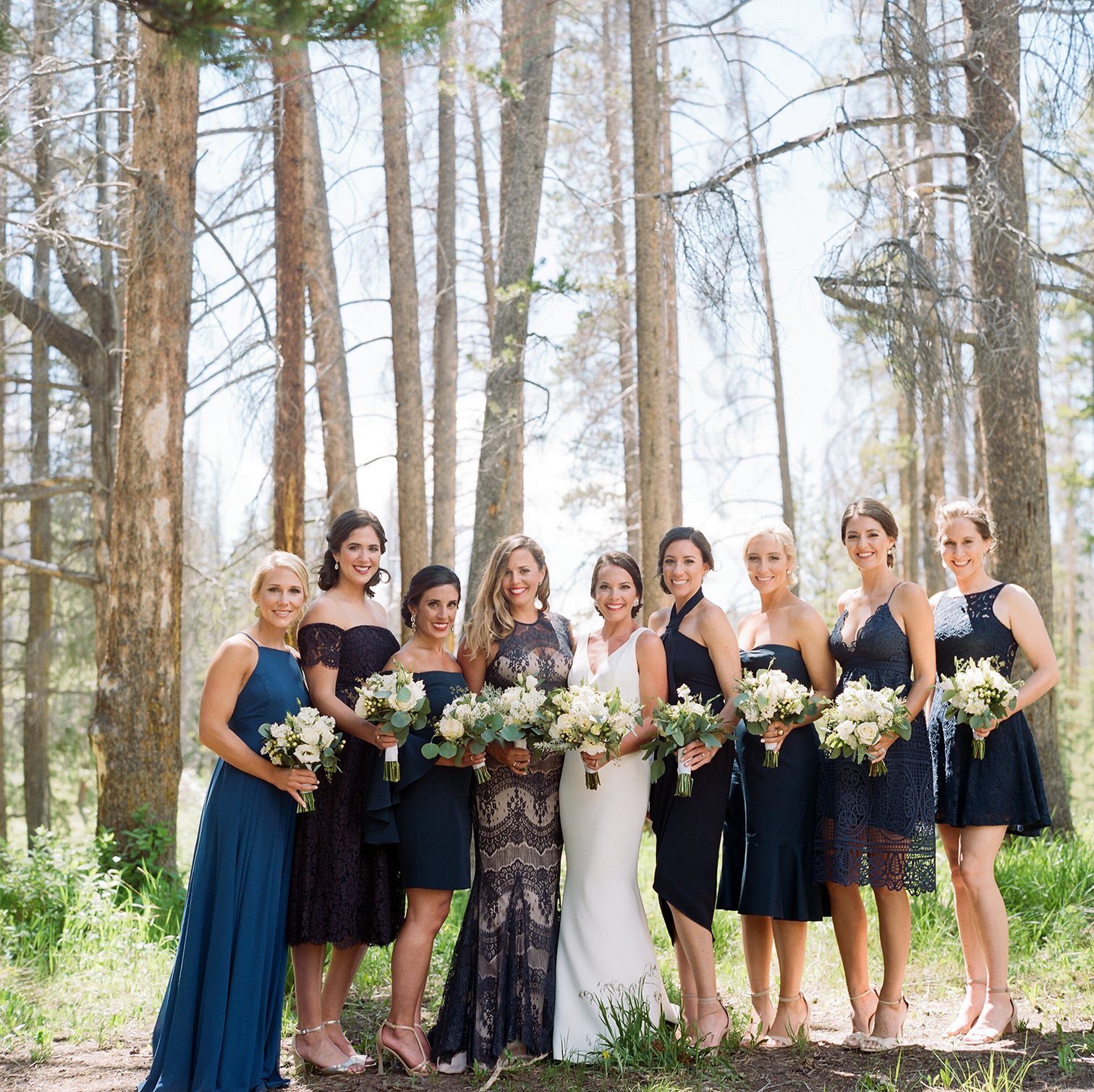 Piney River Ranch Wedding,  Bridal Party