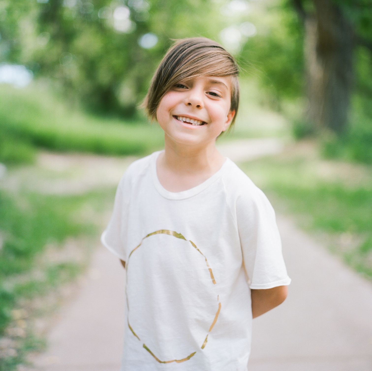 Film Photographers, Colorado Family Portraits, Fort Collins Portrait Photographer, Summer Family Portraits, Boy Smiling At Park