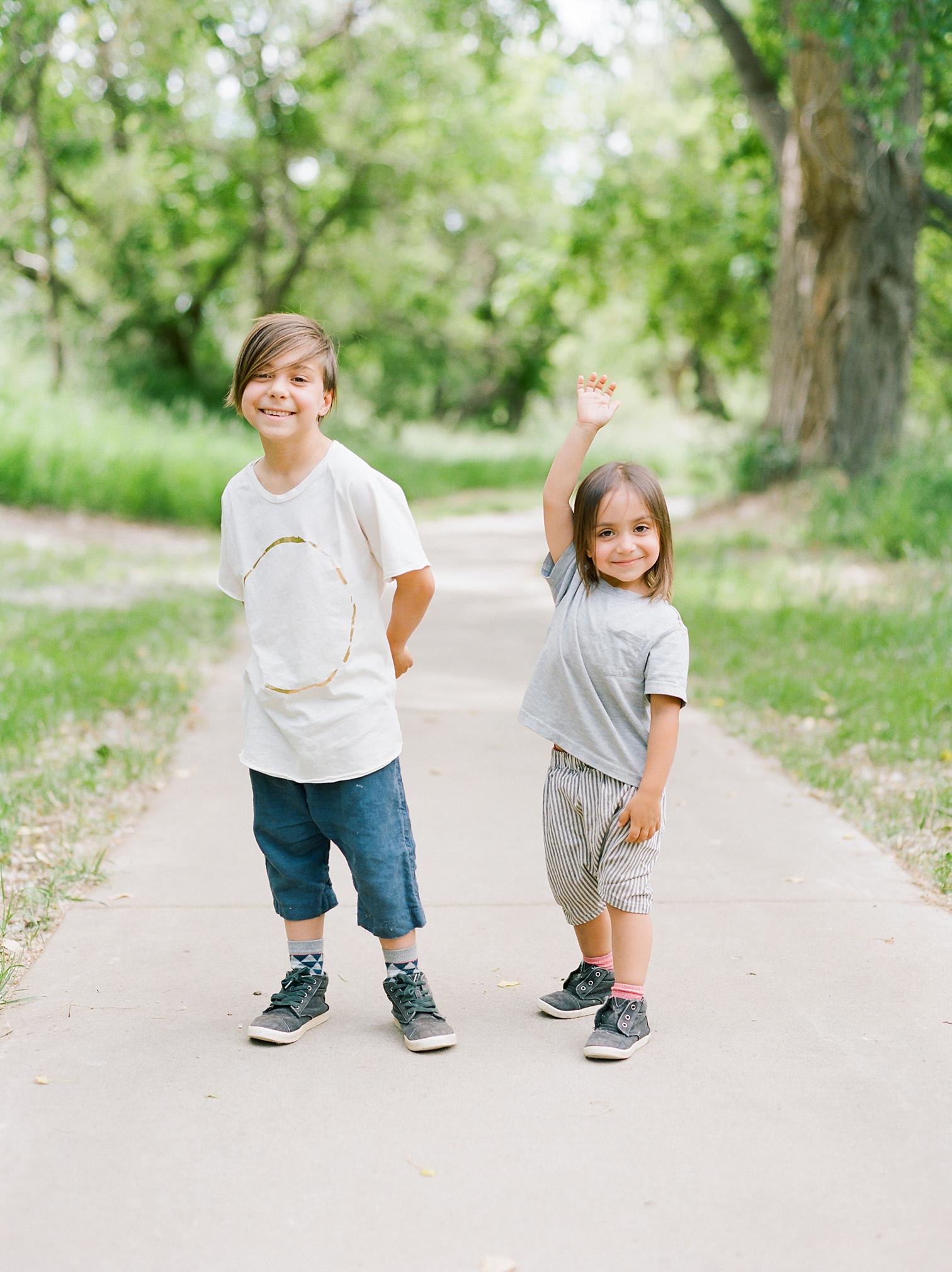 Film Photographers, Colorado Family Portraits, Fort Collins Portrait Photographer, Summer Family Portraits, Goofy Portraits Of Boys, Rolleiflex Cameras
