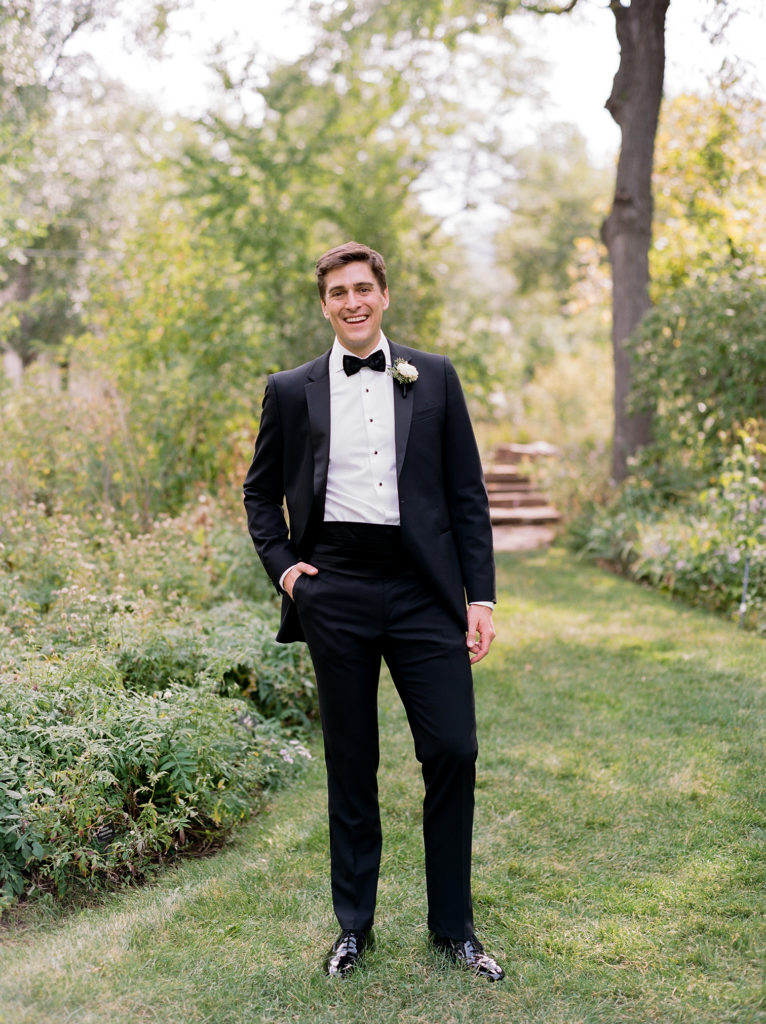 Boulder Weddings, Groom Standing at Chautauqua