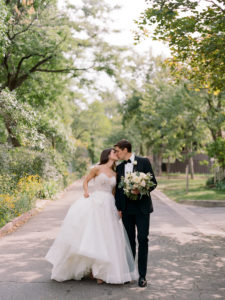Boulder Colorado Weddings, Bride Kissing Groom