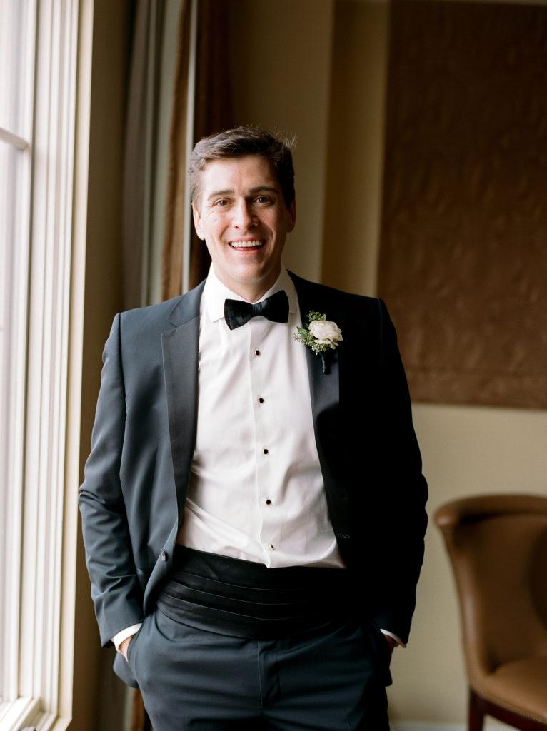 Boulder Weddings, Excited Groom Smiling, St Julien Hotel