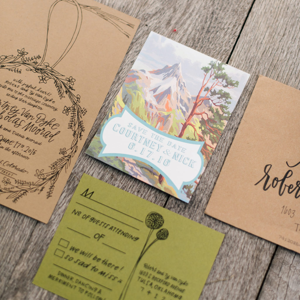 Lyons Colorado, Farmette Wedding, Invitations