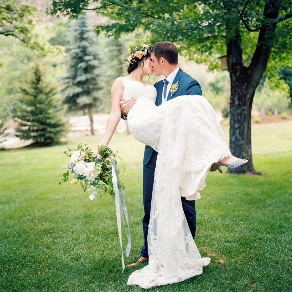 Lyons Colorado, Farmette Wedding, Groom Holding Bride