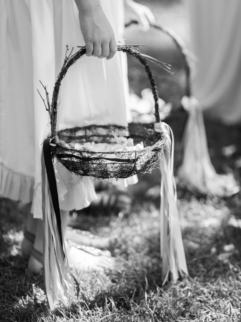 Lyons Colorado, River Bend Wedding, Flower Girl Baskets