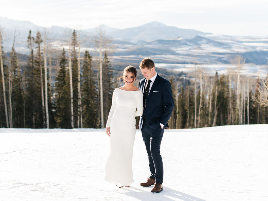 Telluride Weddings, Bride and Groom on Mountaintop