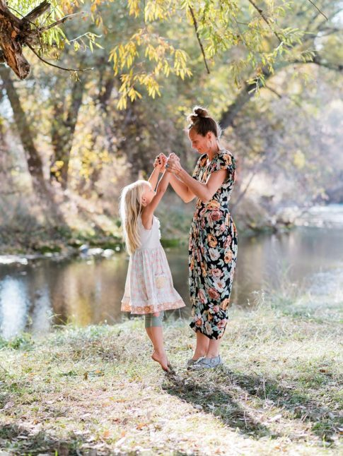 Mother Child by River, Fort Collins Family Photos
