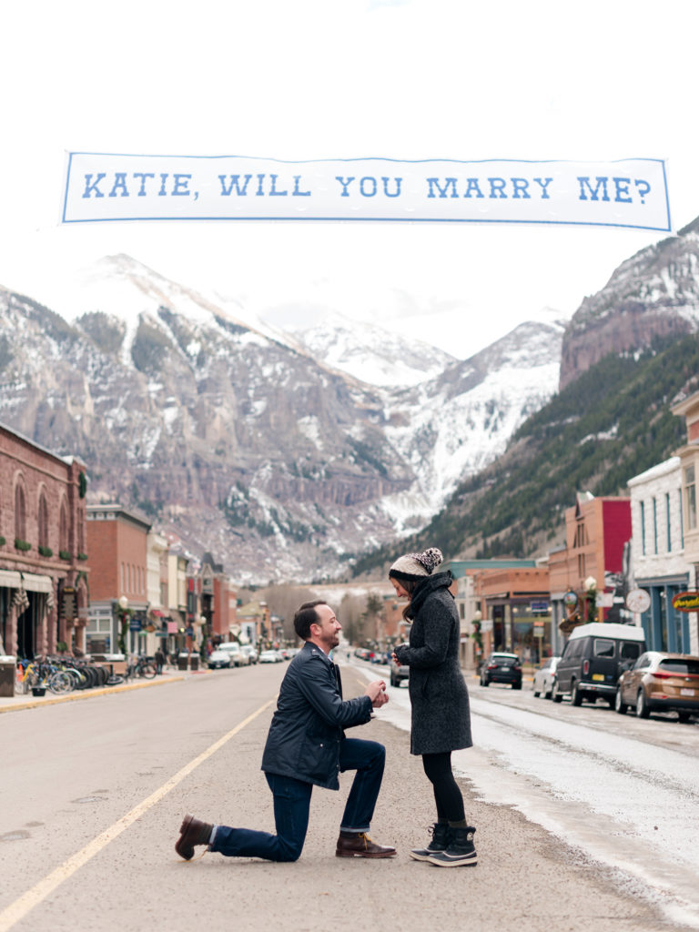 Colorado Wedding Photographers, Proposing in Telluride