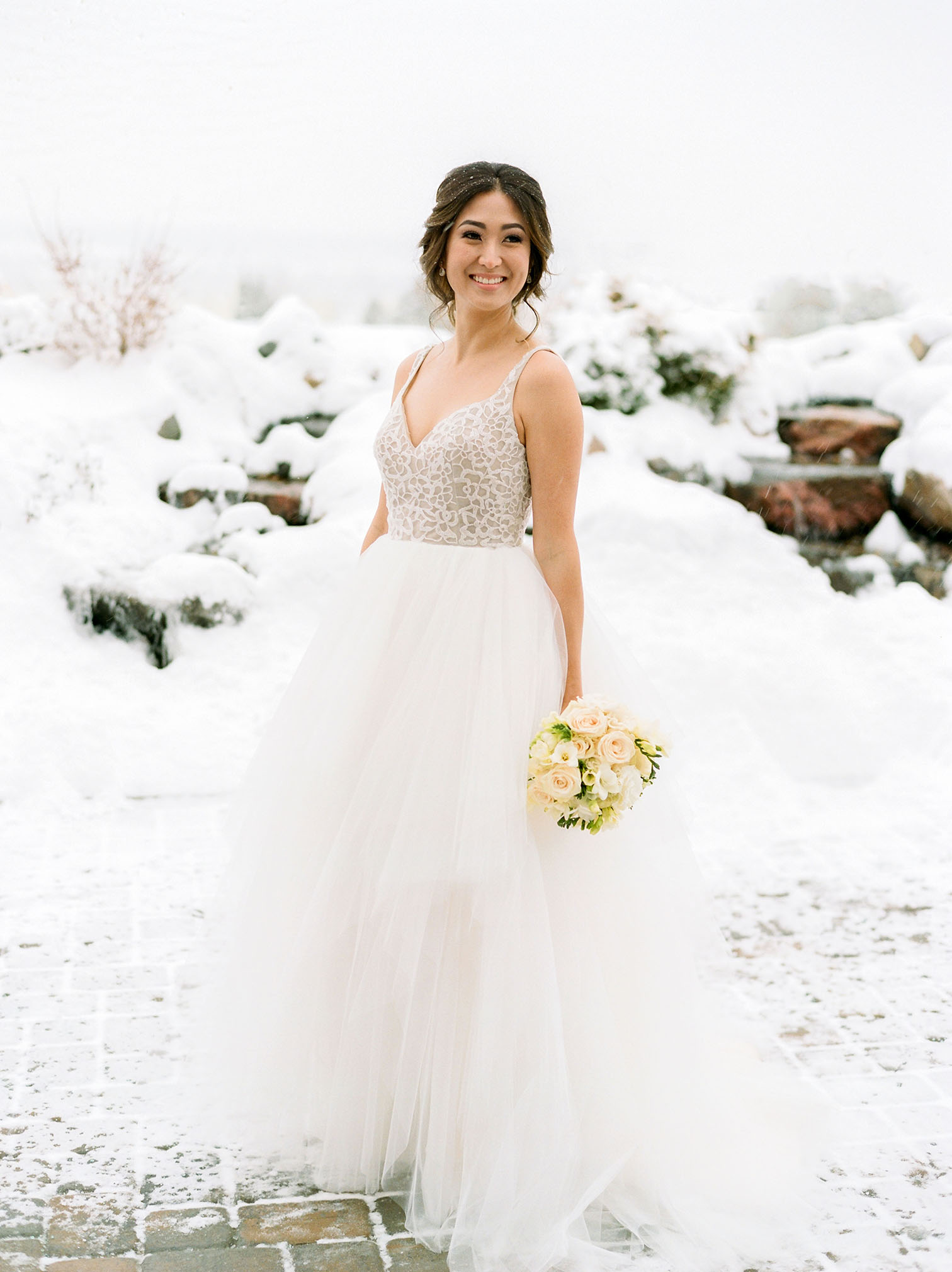 Colorado Wedding Photographers, Winter Bride, Hayley Paige Wedding Dress