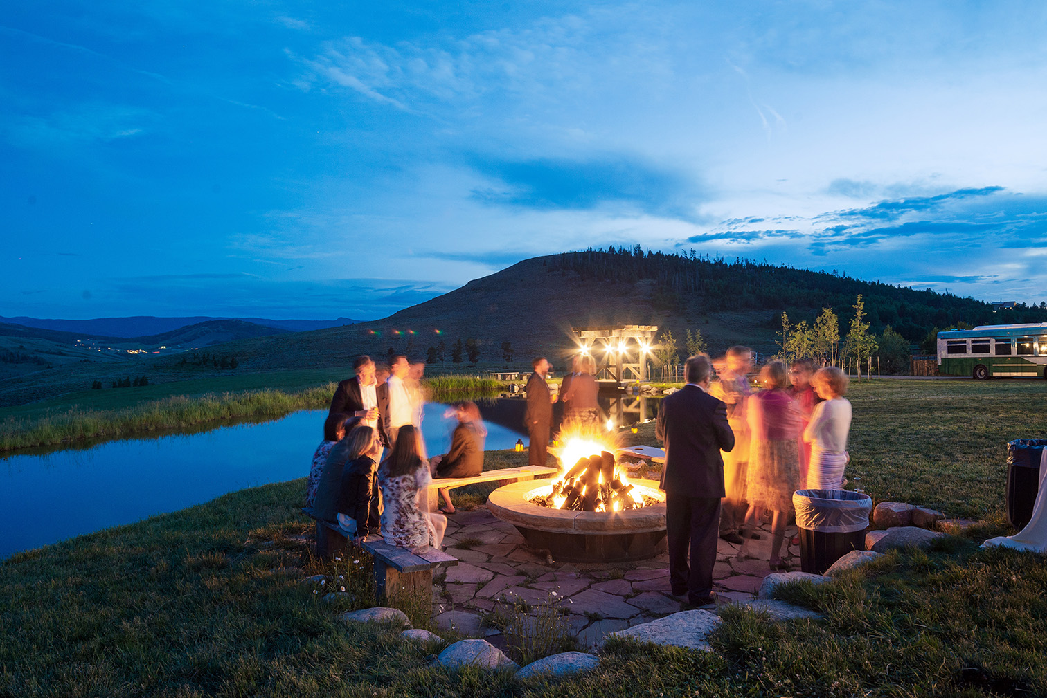 Destination Wedding in Colorado, Campfire Receptions, Denver Wedding Photographers