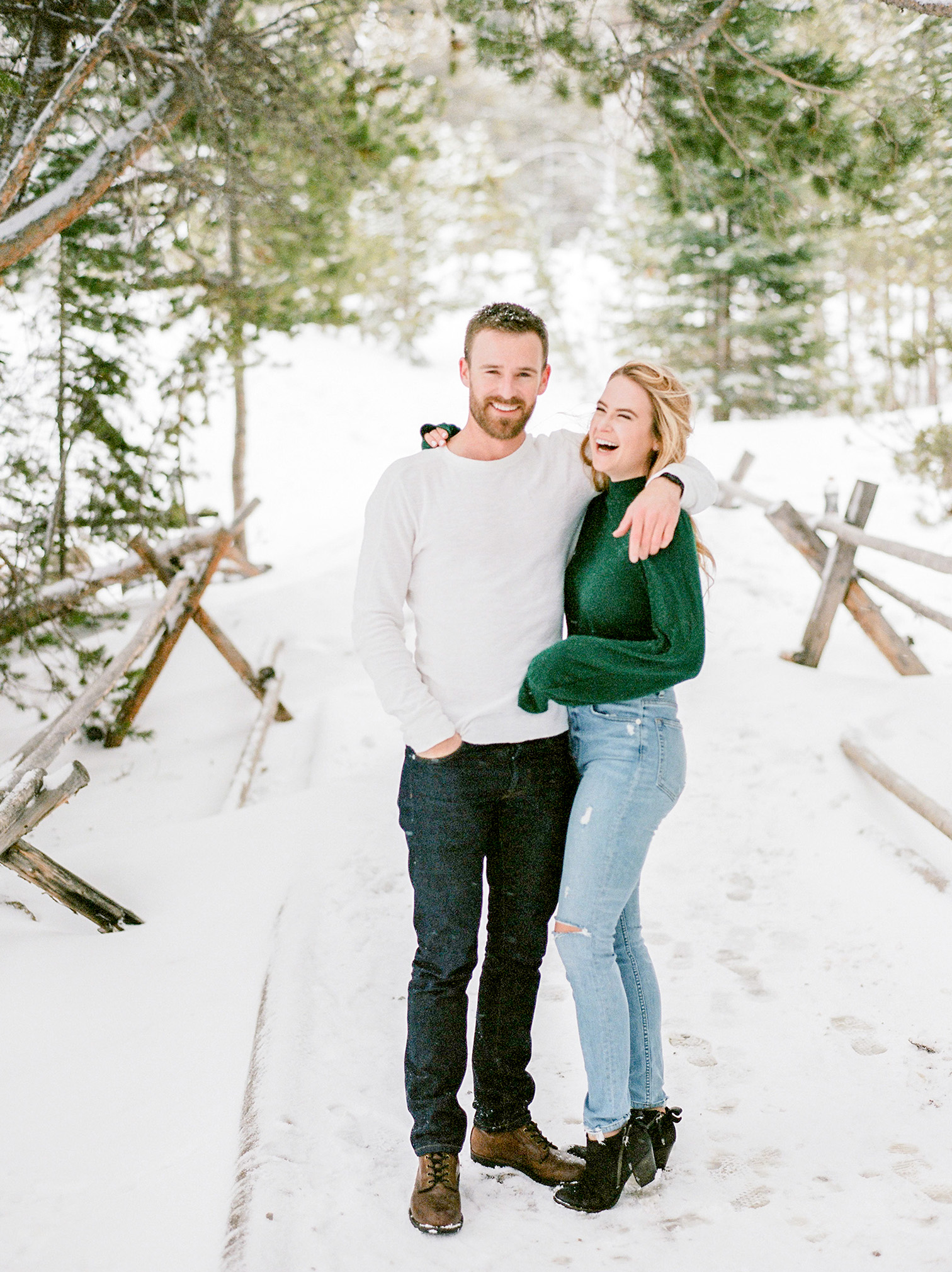 Bear Lake - Rocky Mountain National Park Engagement Photos, Estes Park Colorado