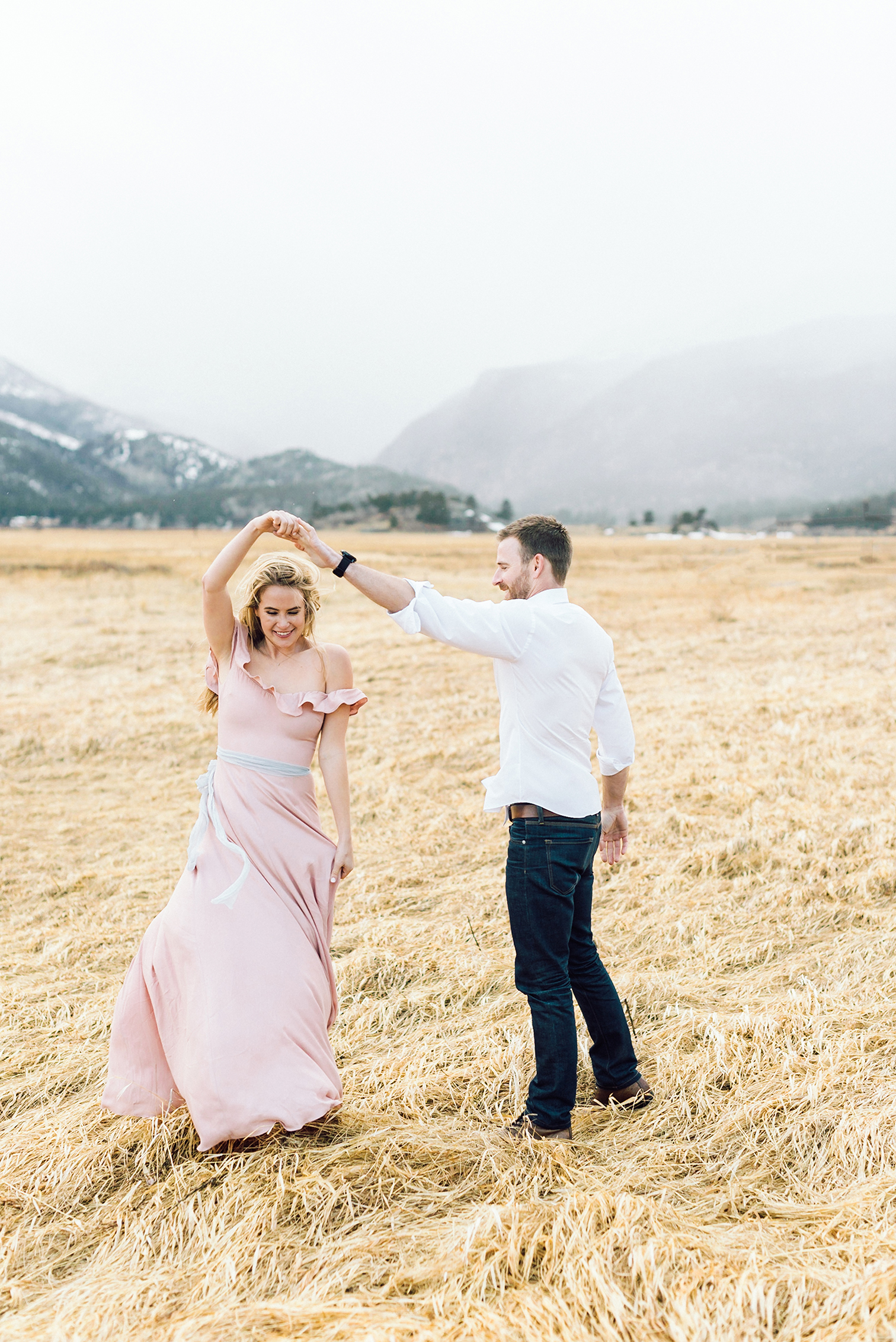 Dream Lake - Rocky Mountain National Park Engagement Photos, Estes Park Colorado