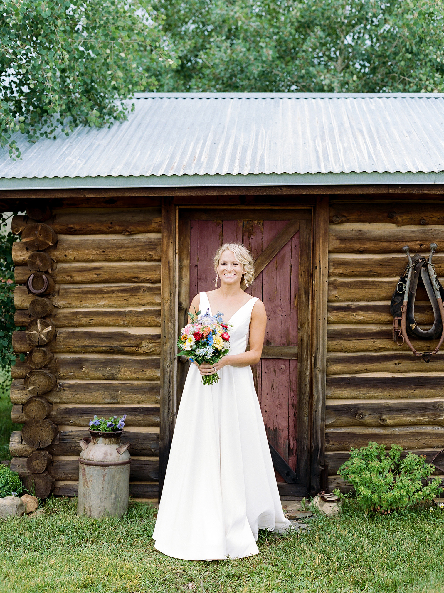 Strawberry Creek Ranch Granby Colorado, Wedding Portraits, Summer Bride
