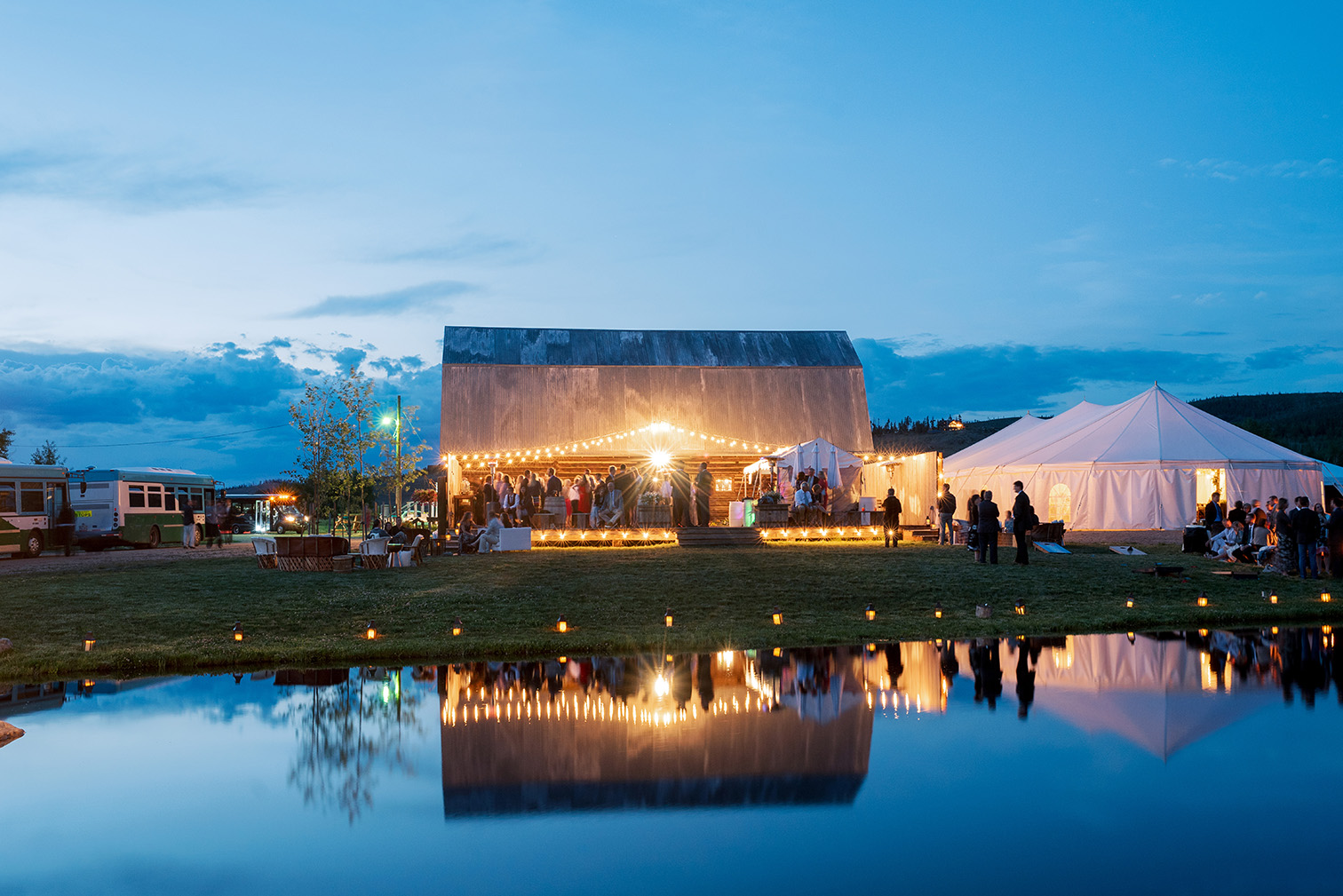 Strawberry Creek Ranch Granby Colorado, Night Reception, Barn Weddings