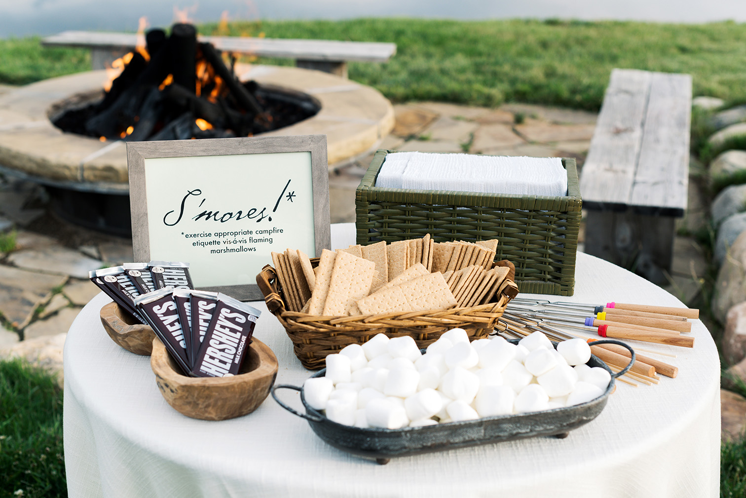 Strawberry Creek Ranch Granby Colorado, S'mores for Wedding Reception