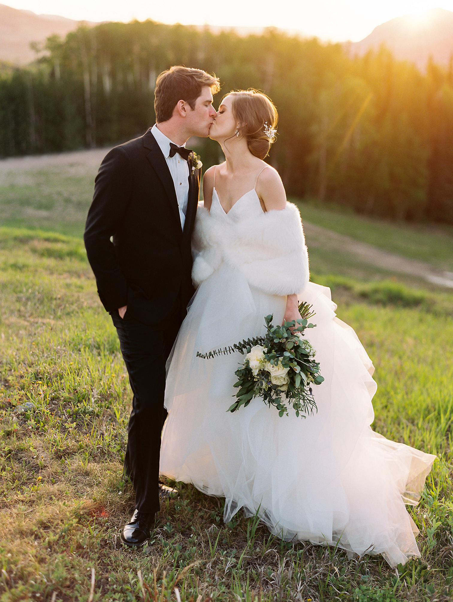 Telluride Summer Weddings, Golden Hour Photos, Gorrono Ranch, Destination Wedding, First Dance