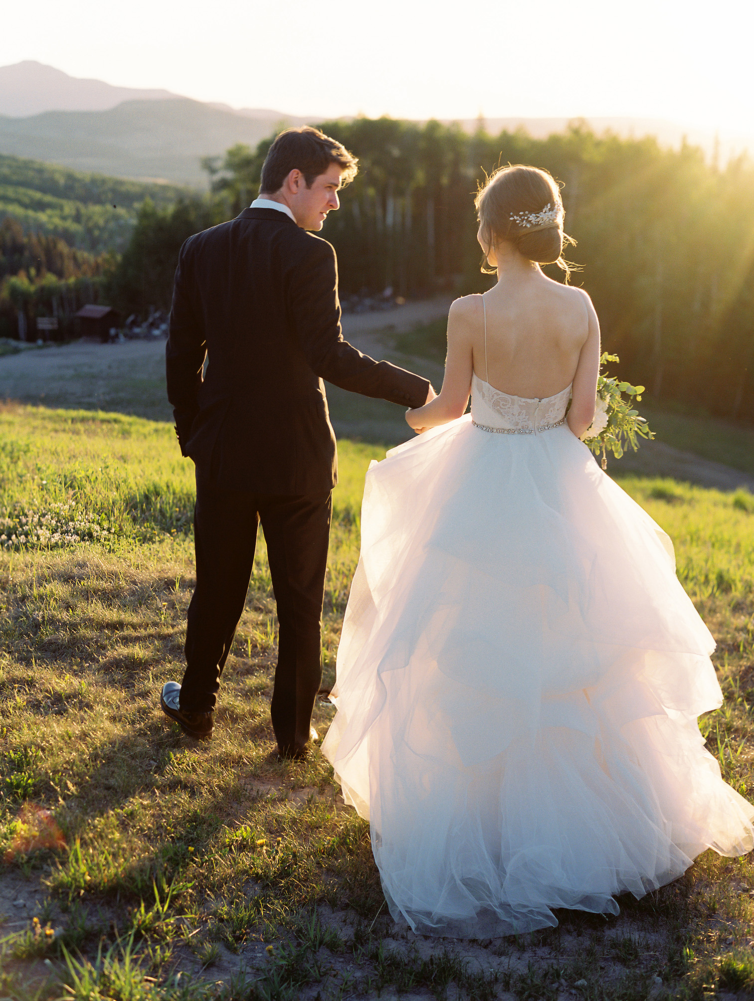 Telluride Summer Weddings, Gorrono Ranch, Destination Wedding, Bride and Groom Mountain Portraits