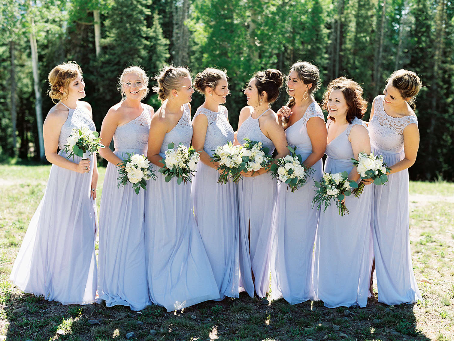 Telluride Summer Weddings, Gorrono Ranch, Destination Wedding, Bridemaids in Lavender