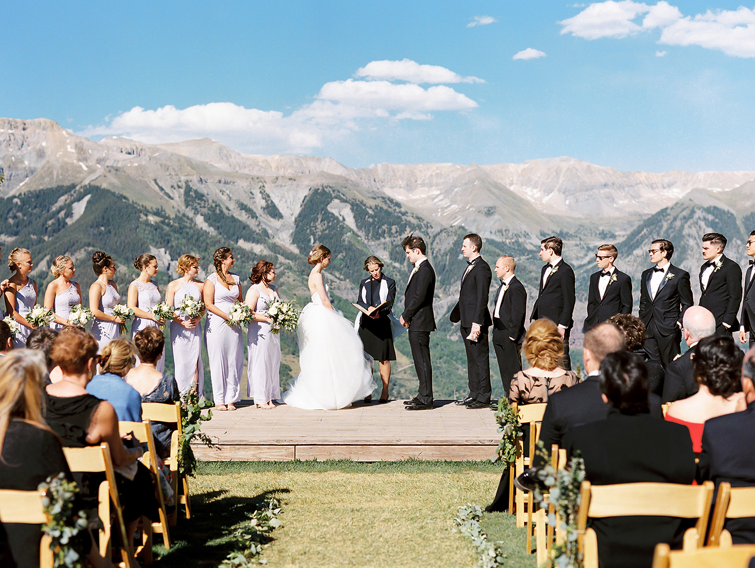 Telluride Summer Weddings, Gorrono Ranch, Destination Wedding, Mountain Top Ceremony, San Sophia Station