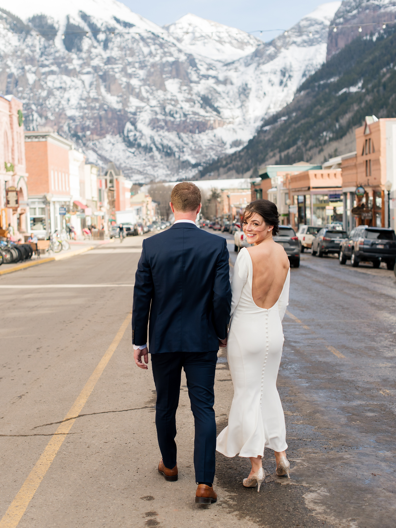 Telluride Wedding, Colorado Destination Wedding, Colorado Photographer, Colorado Wedding Photography, Bride Smiling
