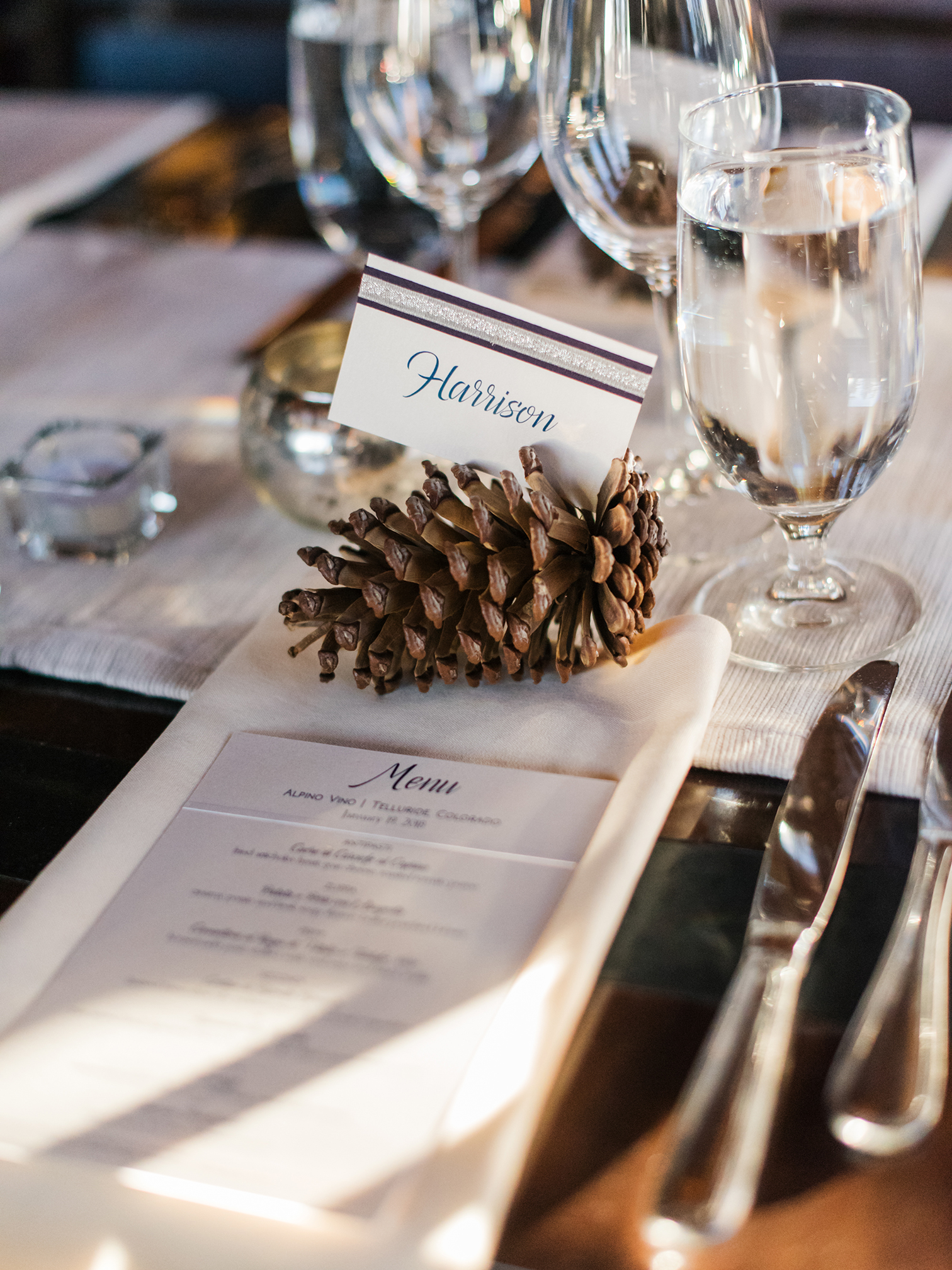 Telluride Wedding, Colorado Destination Wedding, Colorado Photographer, Colorado Wedding Photography, Place Cards