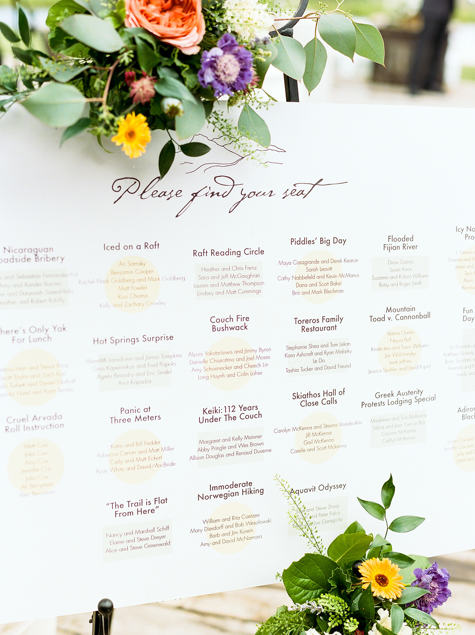 Winter Park Colorado Wedding, Table Seating Charts, Mountain Wedding Venues