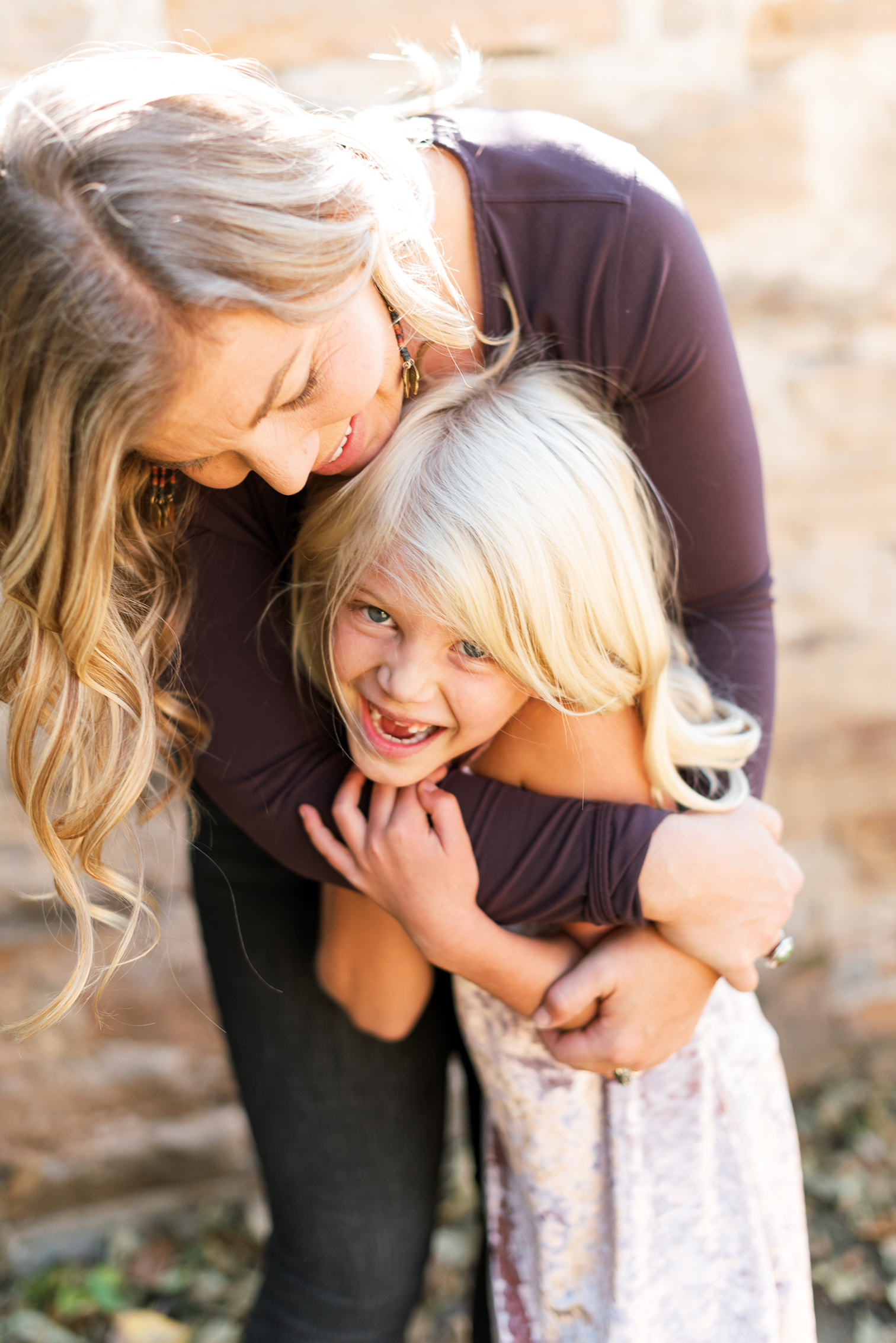 Fall Portraits, Colorado Family Portraits, Fort Collins Portrait Photographer, Fall Family Portraits, Mother with Children, Colorado Family Portraits, Mother Holding Daughter