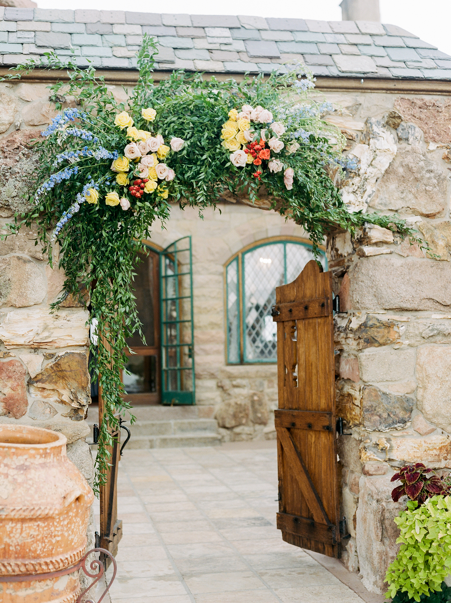 Wedding Photographers Colorado, Colorful Floral Arch