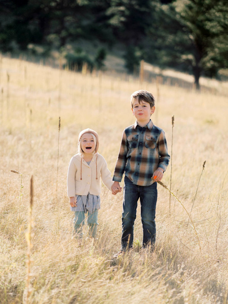 Boulder Family photos, sibling photography, sister and brother laughing, Boulder photographer