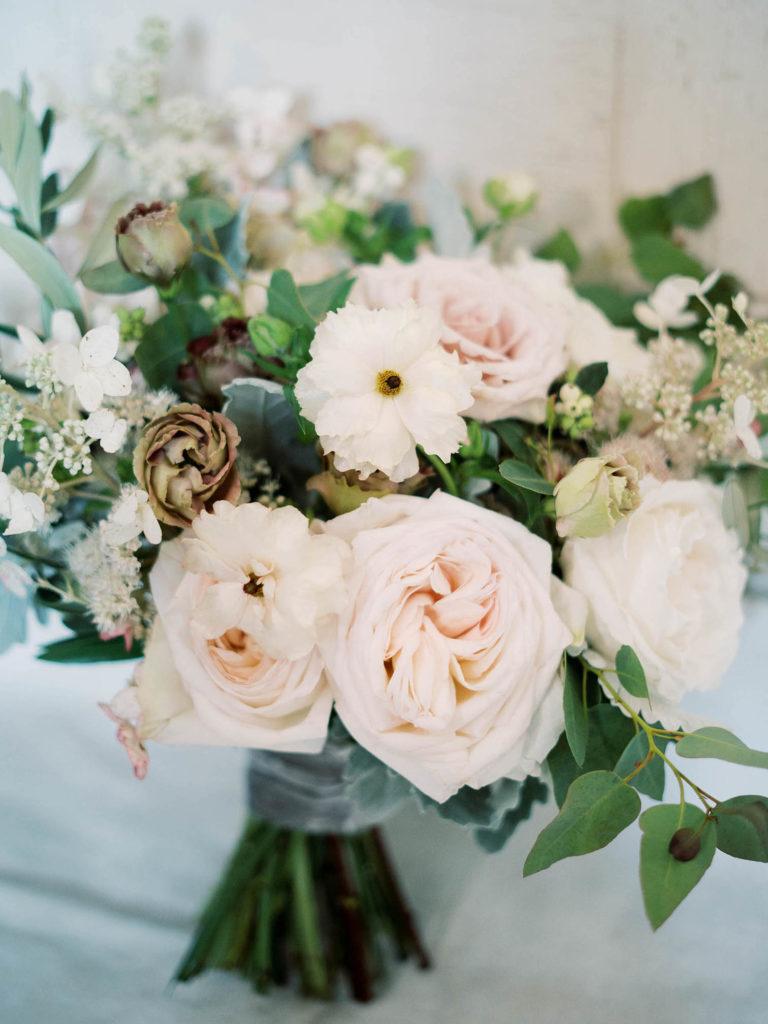 Park Hyatt Beaver Creek Wedding, romantic ivory bouquet,