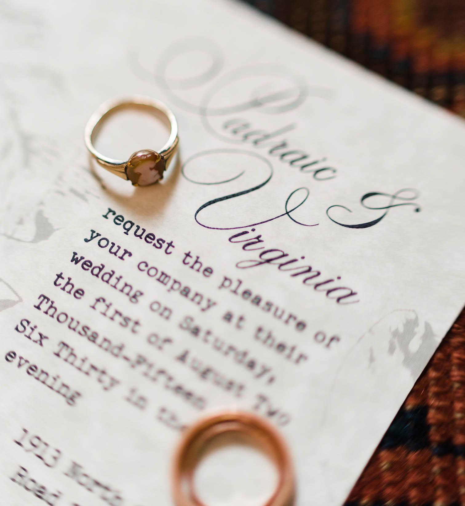 intimate aspen wedding, heirloom wedding rings
